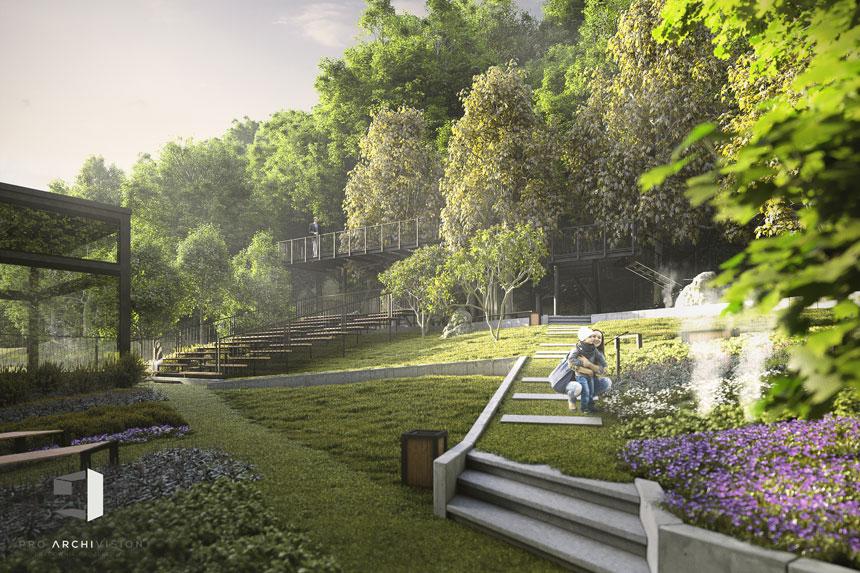 Nowa siedziba teatru KTO – ogród