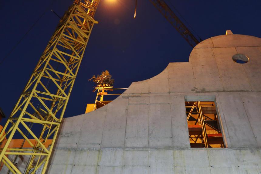 Wiecha na dachu nowej siedziby Teatru KTO