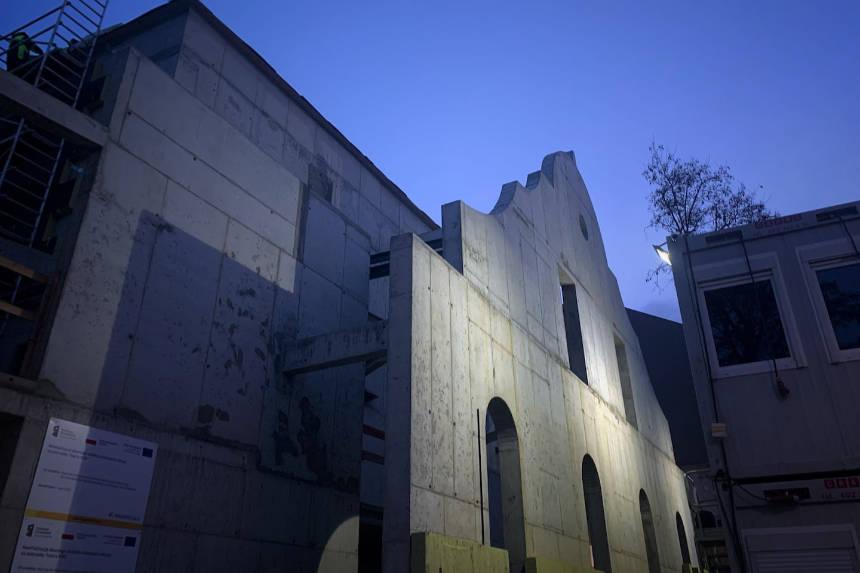 Zdjęcie zbudowy nowej siedziby teatru. Autor zdjęcia: Bartek Cieniawa