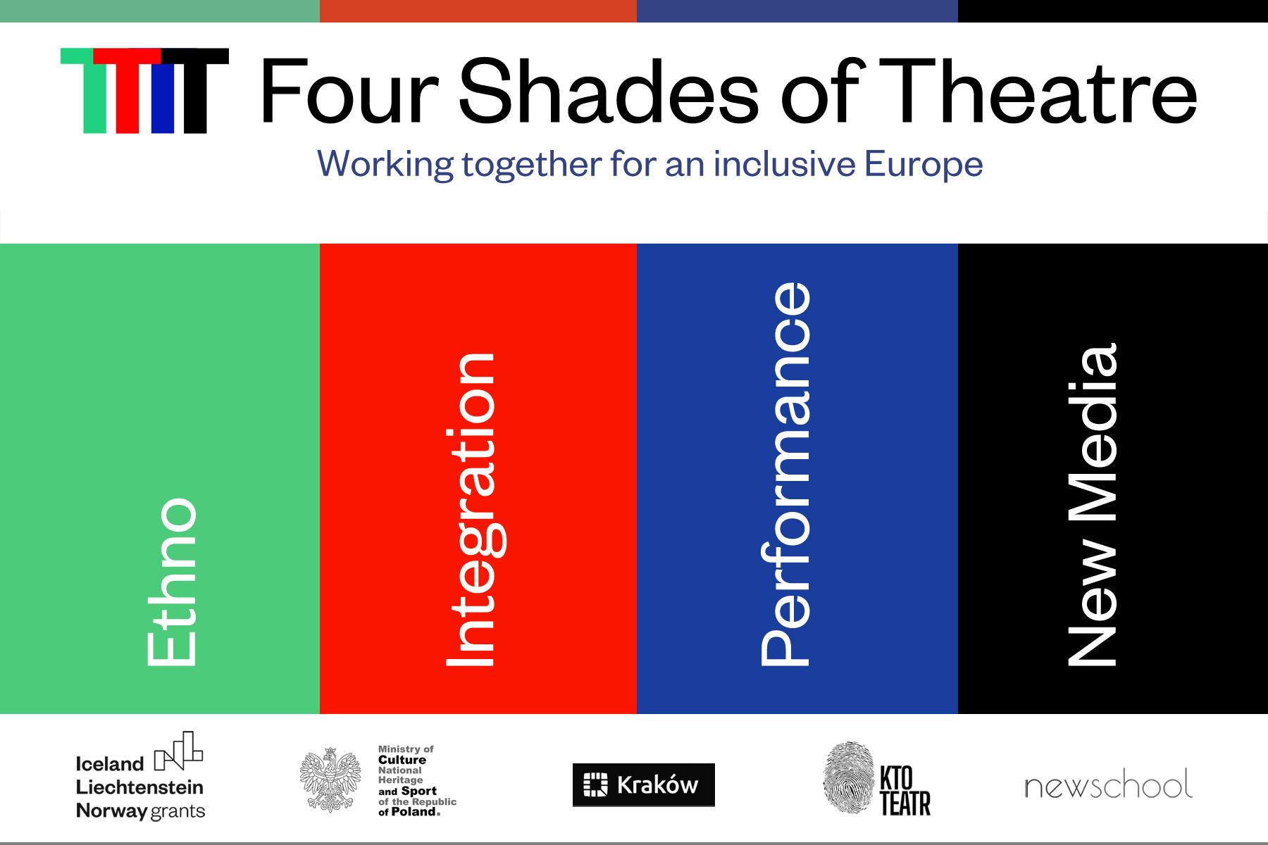 Four Shades of Theatre, design by Witold Siemaszkiewicz