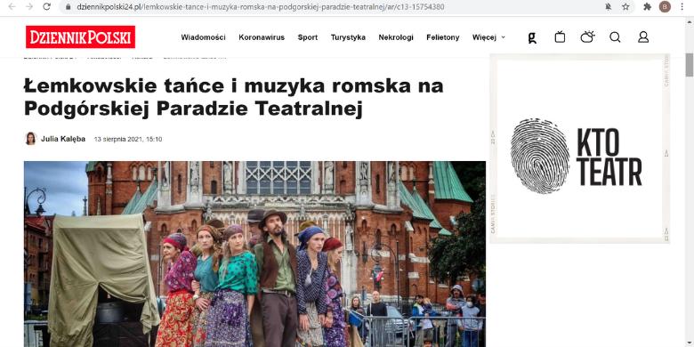 Dziennik Polski_Podgórska_Parada_Teatralna